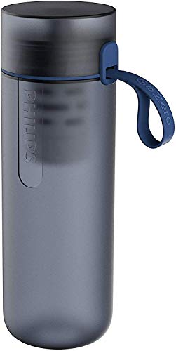Philips - GoZero Fitness Hydration Bottle - 1 Filter Included - Blue