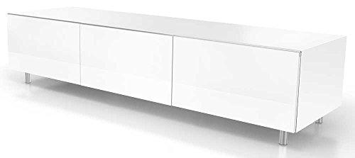 Just Racks TV-Möbel, Holz, Weiss, 48 x 165 x 38 cm