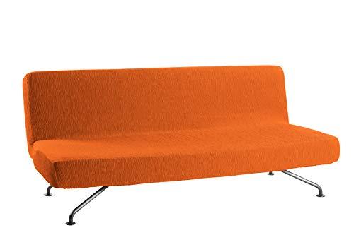 Martina Home Emilia Funda de Sofá Clic Clac, Tela, Naranja, 180 a 205 cm