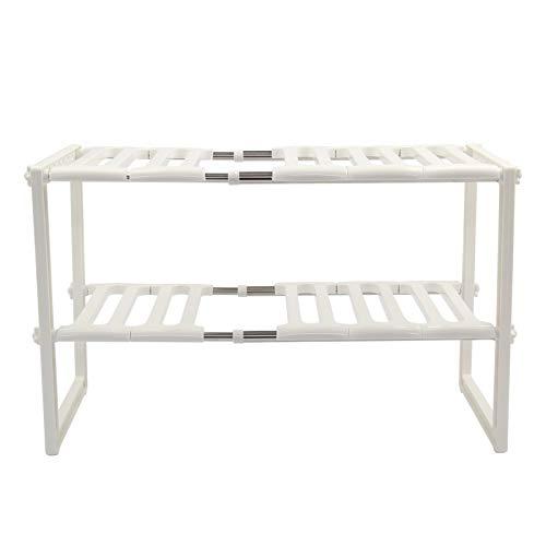 N/Y Kitchen Rack Organizer 50Cm To 70cm Adjustable Height Expandable Storage Tidy Shelf Unit Organizer For Shelving Unit
