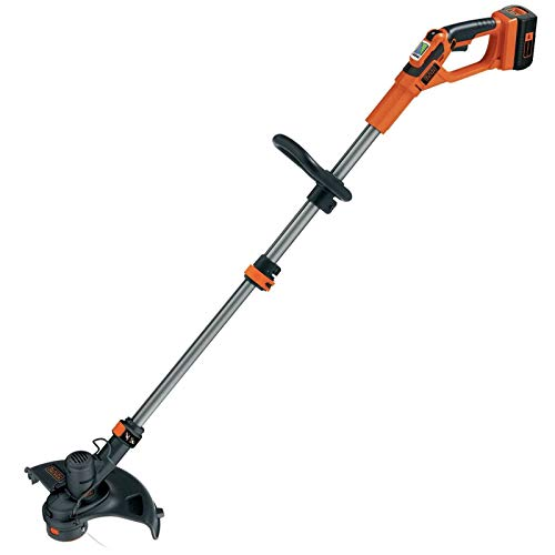 BLACK+DECKER GLC3630L20-QW Coupe-bordures sans fil - 2 vitesses - 1 batterie - Tube telescopique et 2nd poignée réglable, 36V, Orange, 30 cm