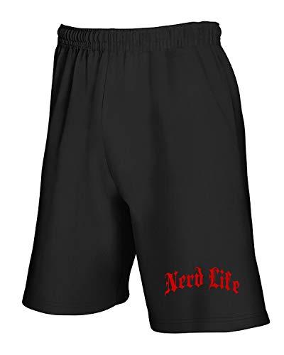 Jogginghose Shorts Schwarz FUN2593 Nerd Life Gothic Thug