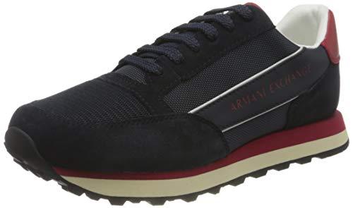 Armani Exchange Osaka Sneaker, Zapatillas Hombre, Azul Oscuro, 45.5 EU