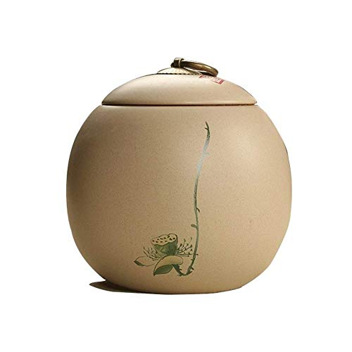 Urnas para perros urnas de cremación urnas para cenizas, urna de recuerdo de cerámica para adultos, color ordinario, patrón de loto con tapa (5,4 x 5,5 cm (color: C)