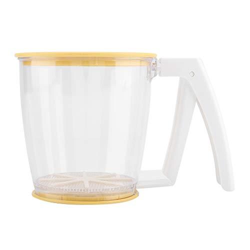 Alvinlite Colador de harina de Mano - Colador de harina, Colador de colador de harina de Taza de Mano, Tamiz de Malla de Polvo Suministros para Hornear Herramientas con Tapa