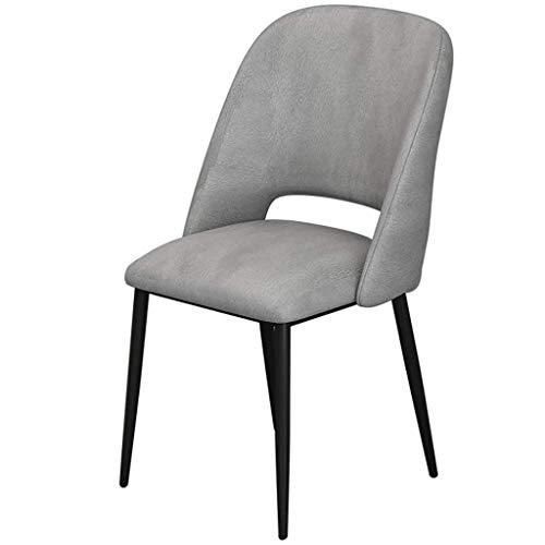 Jokeagliey Chaise de Salle à Manger, avec Rembourrage en Mousse Haute densité, pour Restaurant/Bureau/comptoir/Famille Chairs chaises de Bureau pour Chambres à Coucher,Gray