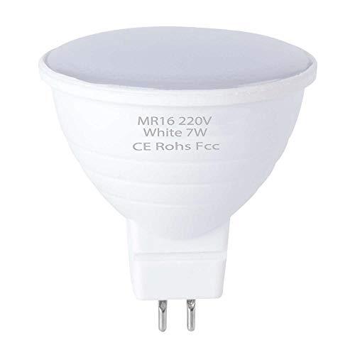 10 Stück Gu10 Led-Maiskolben Mr16 Spotlight 220V Focos Led-Birne 5W 7W Ampulle Gu 10 Led-Lampe Gu5.3 Spotlicht Energieeinsparung 2835 Smd-Mr16_Milky_6Leds_5W_220V_10Pcs_Warm_White_2_Years_Warranty