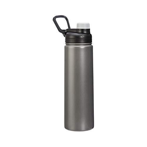 Amazon Basics - Borraccia termica in acciaio inox da 567 g, con coperchio con beccuccio, grigia