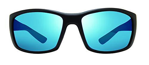 Revo Gafas de sol polarizadas Dexter marco envolvente 64 mm, marco negro mate, H20