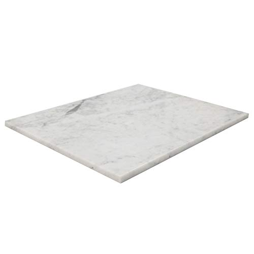 Soulscrafts Christmas Gift Natural Bianco Carrara Marble Cheese Pastry Board and Cutting Board 16x12x0.5 Inch