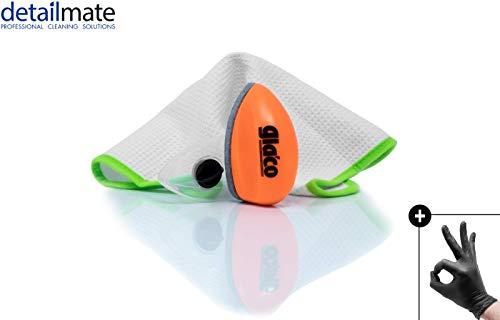 detailmate Glasversiegelung Set: Soft99 Glaco Q + Liquid Elements Streak Buster + Nitril-Handschuhe