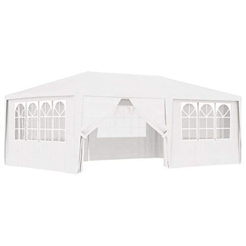 Goliraya Gazebo Professionale con Pareti Tendone per Feste 4x6 m/4x4 m 90 g/m² Impermeabile Protezione UV Tenda Giardino...