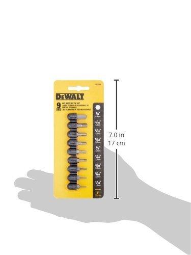 DEWALT DW2068 Hex Insert Bit Set, 9-Piece per Pack, Sold as 3 Pack, 27-Piece Total