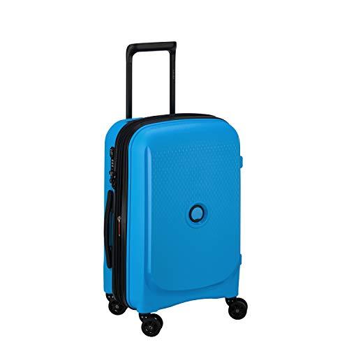 DELSEY PARIS - BELMONT PLUS - Valise cabine rigide à double roues multi directionnelles et serrure TSA intégrée - 55cm, 32.1L, Bleu