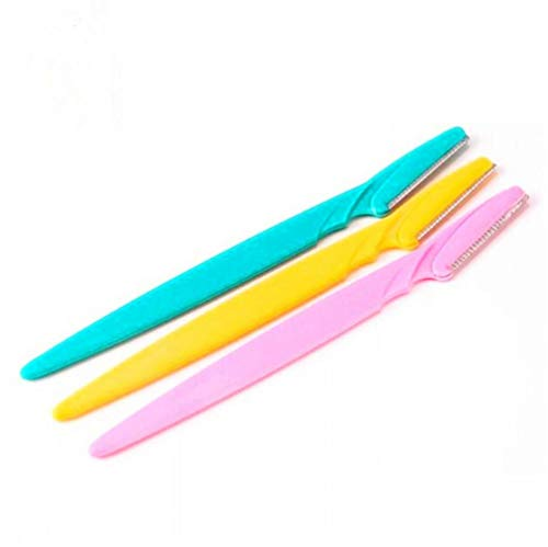 Zonster 3pcs Rasoir Sourcils Visage épilateur Sourcils Trimmer Pointu Mini Rasoir Shaper Couteau de Maquillage pour Les Femmes