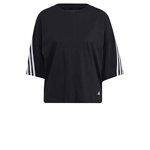 adidas W 3S Tee, t-Shirt (Manica Corta) Donne, Black/White, S