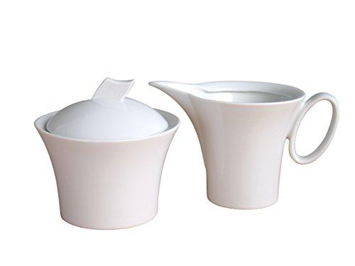 CreaTable 13571, Serie Wing weiß, Geschirrset Milch- und Zucker Set 2 teilig