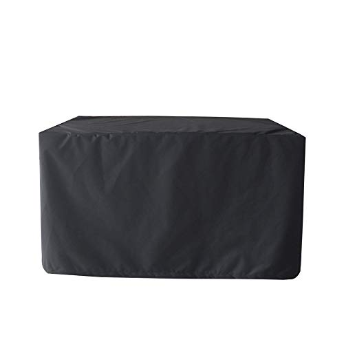 TcooLPE Tuintafelkleed, vierkant, zwart, waterdicht, outdoor, stofdicht, tafel, bureaubekleding, meubelset, met tuin, outdoor, meubilair, opbergtas