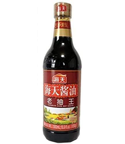 海天醤油 老抽王500ml/瓶【中国醤油】オリジナルステッカー付