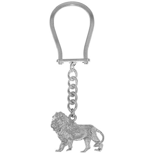Derby Schlüsselanhänger Löwe groß schwer massiv echt Silber 29031