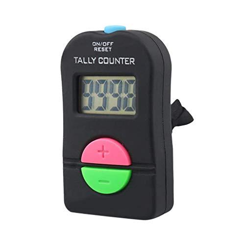 Hellery Contadores de Cuentas de Mano Digitales Electrónicos Clickers con Retroalimentación 4 Figuras Conteo de Bienes
