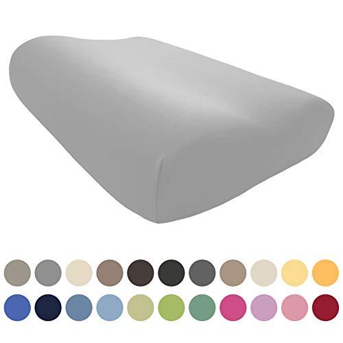 EddaLux Bezug für Tempur ORIGINAL S/M/L/XL Schlafkissen | Hochwertiger Jersey-Kissenbezug für Nackenstützkissen | 50x31 cm | 50x30 cm | 100% Baumwolle | Farbe: Platin