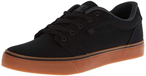 DC Men's Anvil Casual Skate Shoe, Black/Gum, 12 D M US