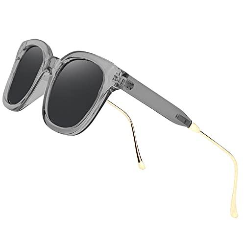 Perfectmiaoxuan Lunettes de soleil 3 Pack hommes femmes polarisées UV400 classique rétro lunettes conduite course cyclisme pêche Golf été tourisme lunettes de soleil homme (1 Pack (Gray))