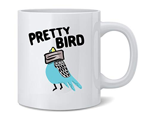 Poster Foundry Pretty Bird Taped Head Funny Ceramic Coffee Mug Tea Cup Fun Novelty Gift 12 oz