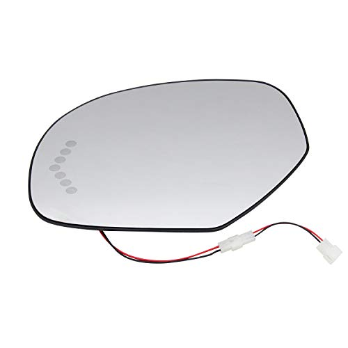 New Replacement Driver Side Mirror Assembly Heated Signal Glass W Backing Plate Compatible With Chevy GMC Cadillac Avalanche Suburban 1500 Yukon XL 1500, Sold By Rugged TUFF