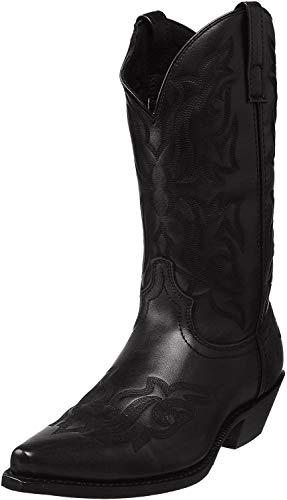 Laredo Mens Hawk Snip Toe Western Cowboy Dress Boots Mid Calf - Black - Size 9.5 D
