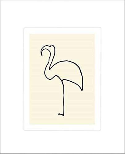 Kunstdruck/Poster: Pablo Picasso Der Flamingo - hochwertiger Druck, Bild, Kunstposter, 50x60 cm