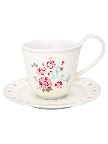 GreenGate STWCUPSOI0106 Sonia Cup & Saucer White 270 ml
