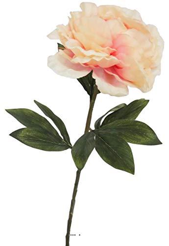 Artificielles.com - Pivoine Artificielle Rose Tendre H 63 cm Tres Belle Tete - Couleur: Rose pâle