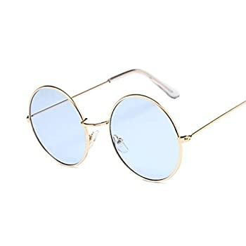 2019 Retro Round Pink Sunglasses Women Designer Sun Glasses For Women Alloy Mirror Female Black  GoldBlue