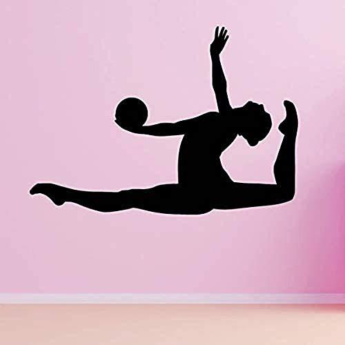 Vinyl Muursticker, Gymnastiek, Muurdecoratie Voor Clothes Shop Schoonheidssalon Slaapkamer Kamer Decoratie Muurschildering 80X56CM