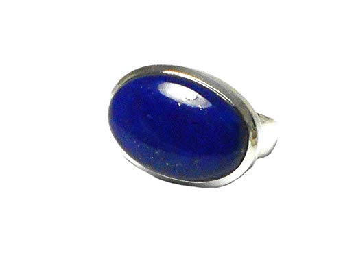 Grote Blauwe Ovale Vorm LAPIS LAZULI Sterling Zilver 925 Edelsteen Ring - Grade 'A'