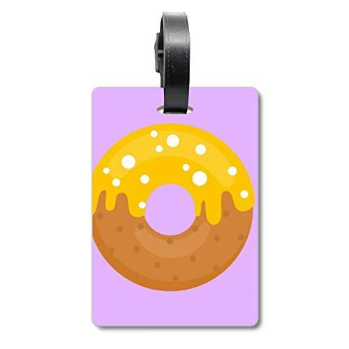 Yellow Cream Doughnut Dessert Sweet Food Cruise Suitcase Bag Tag Tourister Identification Label