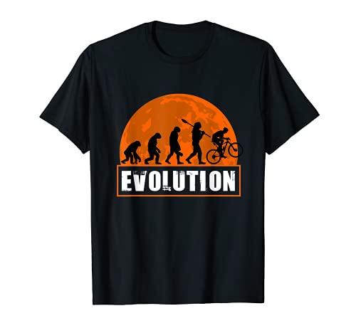 Mountain Bike Evolution Funny Human Evolution T-Shirt
