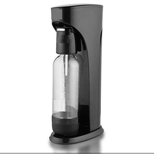 Koolzuurwaterset, Home Soda Makers Portable, Geschikt voor alle CO2-cilinders, Bespaar geld, Gebruik met één knop, Geen elektriciteit en handiger,Black