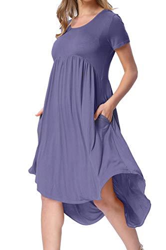 levaca Womens Plus Size Summer Loose Flowy Casual Maternity Dress Daybreak XXL