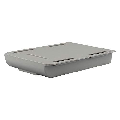 Funmix 自己粘着式鉛筆トレイ 机下の引出し式収納ボックス 卓下式収納ボックス 多機能タイプ 引き出し式ケース 収納ホルダー デスク下取り付け リモコン 文房具 ミニ小物収納 両面テープ スペースを省く使用簡単 隠し おしゃれ(グレー 22cm*15.