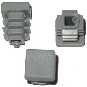 Stopfen GRAU Außen Lamellenstopfen Vierkantrohrstopfen 15 x 15 mm 20 Stück