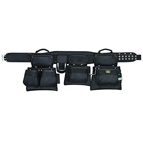 CLC Custom Leathercraft 5605 Professional Carpenters Combo Tool Belt, Black, 18 Pocket