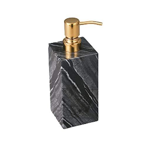 QIFFIY Dispensador de jabón dispensador de jabón, botella cuadrada de mármol con pompa de jabón, jabón decorativo de mano de resina para baño, cocina (color: gris c, tamaño: gel)