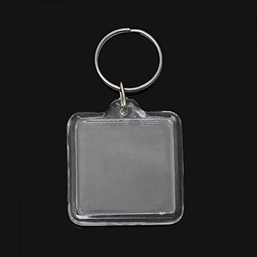 Sadingo Acryl sleutelhanger voor foto's met sleutelring - 10 stuks - 7,5 x 4 cm - sleutelhanger knutselen