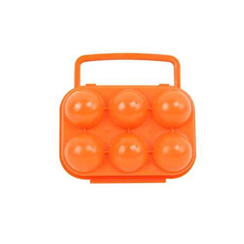 VORCOOL Porte-oeufs portatif titulaire 6 oeufs cas conteneur pour camping en plein air de cuisine (orange)