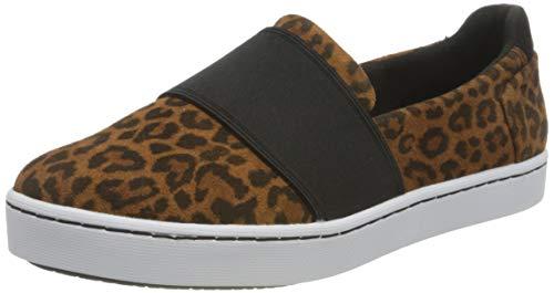 Clarks Damen Pawley Wes Slipper Sneaker, Leopard Print, 39 EU