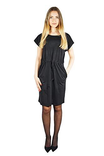 VERO MODA Damen Vmapril Ss Short Dress Ga Noos Kleid, Schwarz (Black Black), L
