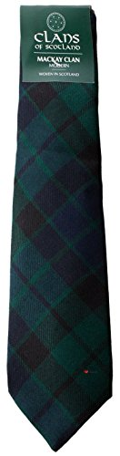 I Luv Ltd MacKay Clan 100% Wool Scottish Tartan Tie